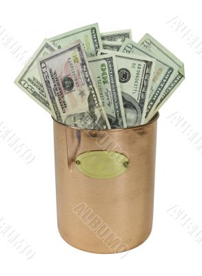Copper Pot Full of Money