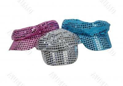 Red White and Blue Sparkle Disco Hats