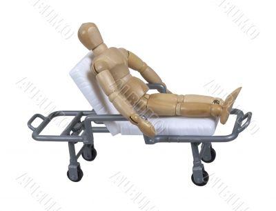 Patient on Hospital Gurney