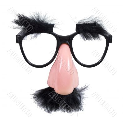 Glasses with Mustache and Eyebrows