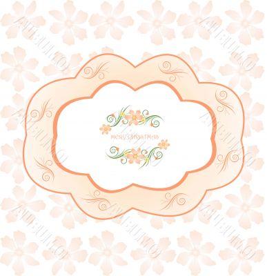 floral patterned frame