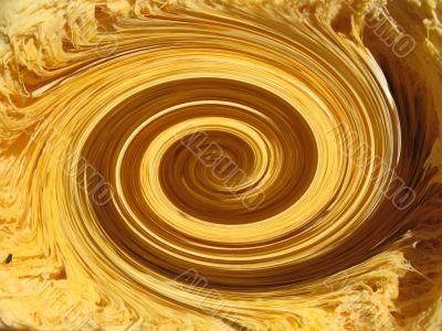 Yellow whirlpool background