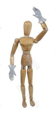 Wearing Fancy Shiny Gloves