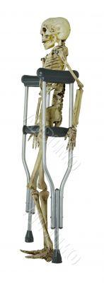 Skeleton on Crutches
