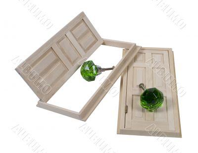 Wooden Doors and Crystal Doorknobs