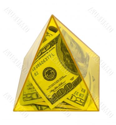 Yellow Power Pyramid of Money