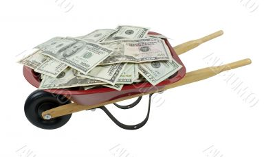 Red Wheelbarrow Full of Money