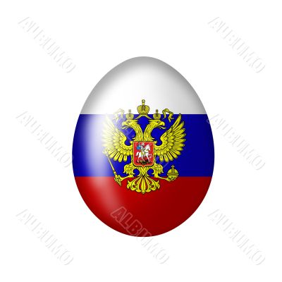 Egg with Russian eagle from the Tsarist