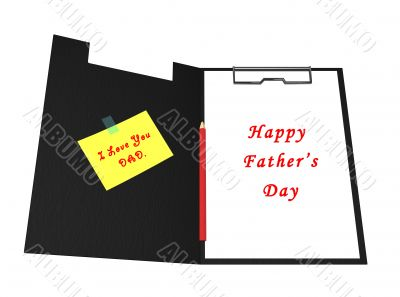 Happy father's day message written on paper