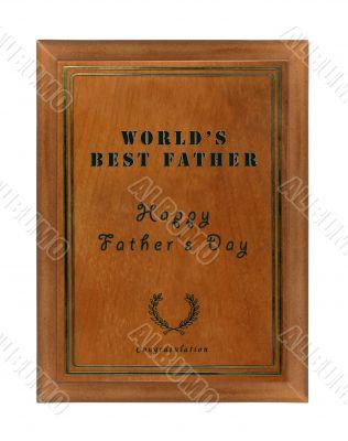 World's best dad tablet