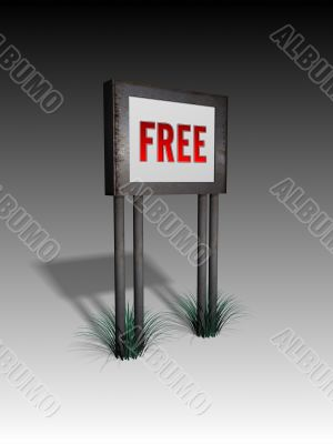 old sign board with free text