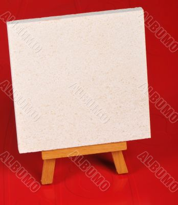 message for empty easel