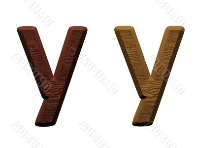 one letter of wooden alphabet.