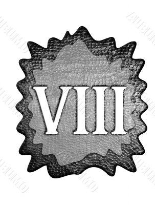 3d metal roman number