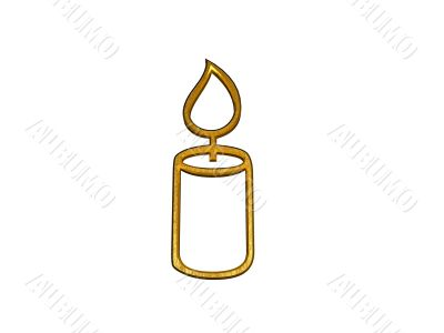 3d golden candle sign