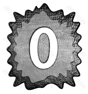 3d metal  zero number