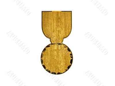 3d round golden medallion