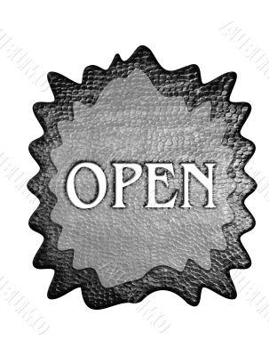 3d metal open mark