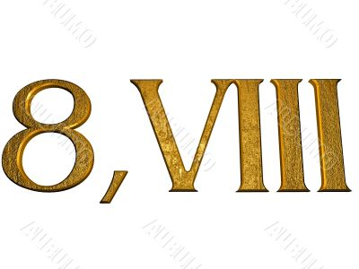 3d golden normal numbers and with Roman numeral