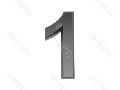 3d metal numbers , in metal on a white isolated background.