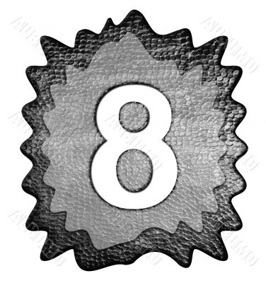3d metal eight number