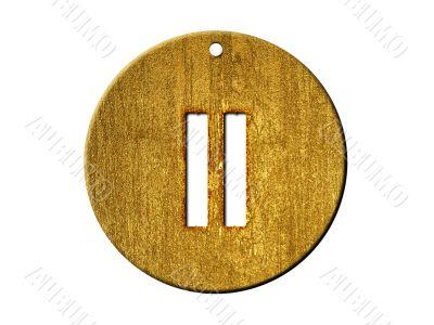 3d golden roman numeral