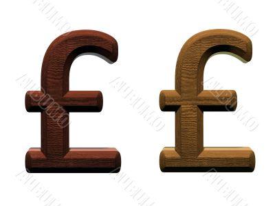 3d wooden pound mark