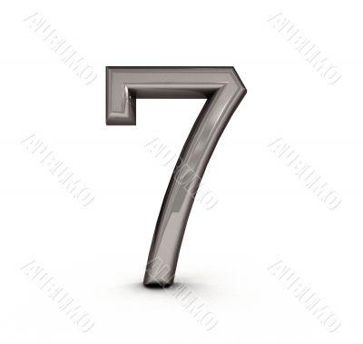 3d metal  seven number