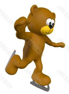 ice-skating teddy