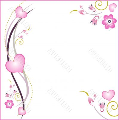 floral and hearts background