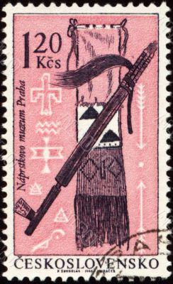 American indian craftsmanship on post stamp