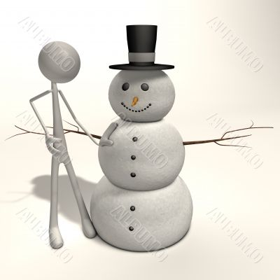 stickman - snowman