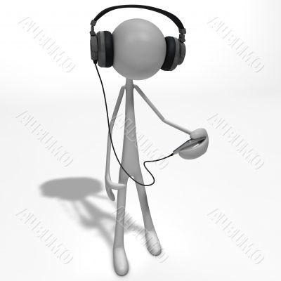 figure listening to music