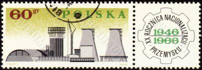 Big plant on post stamp