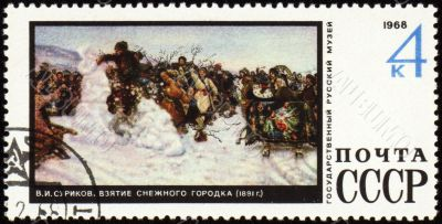 Picture `Storm of Snow Fortress` by Surikov on post stamp