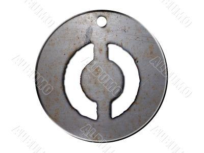 3d metal disc zero number