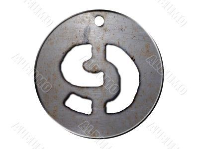 3d metal disc nine number