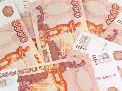 Thousand`s Russian roubles