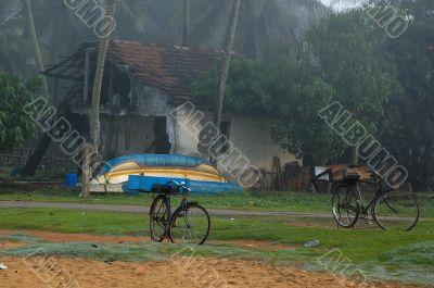 Foggy Morning in the Village in Sri Lanka