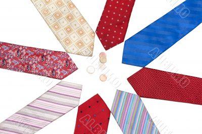 Male ties put around, euro, cent