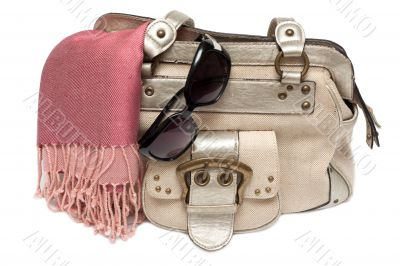 Lady hand-bag in rose charge