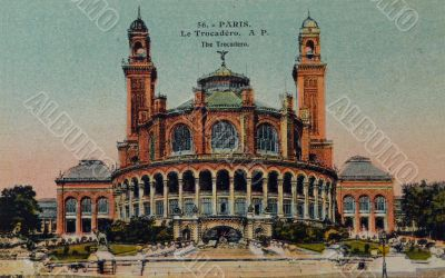 vintage postcard of Paris