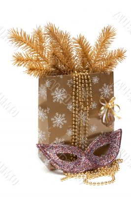 Cristmas gift package, mask