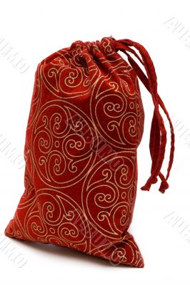 Red bag with gift