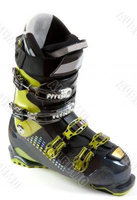 New ski shoe in metallic earring