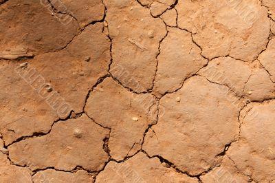 Dry crackinged land Thailand