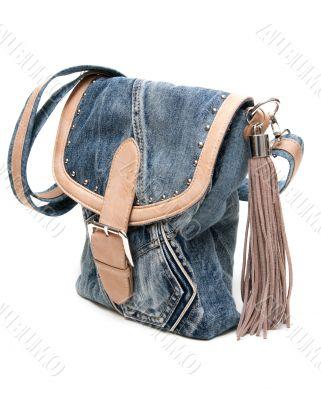 Feminine jeans bag