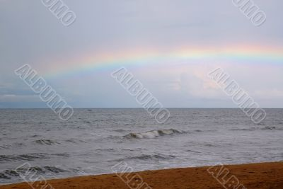 Rainbow over the Gray Sea