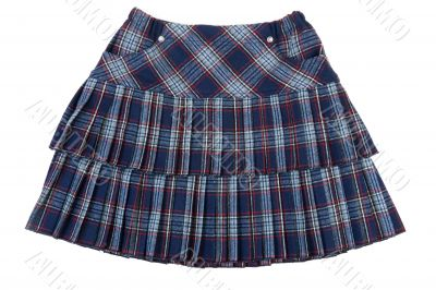 Plaid feminine skirt