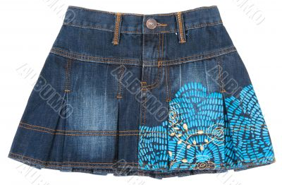 Jeans mini skirt insulated